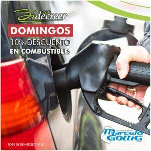 10% descuento en combustible con Sidecreer